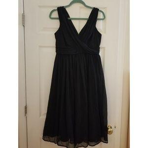 Asos maternity black drape midi dress size 6 (US)